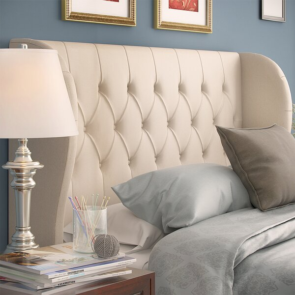Velvet Upholstered Wingback Headboard by Alcott Hill Alcott Hill
