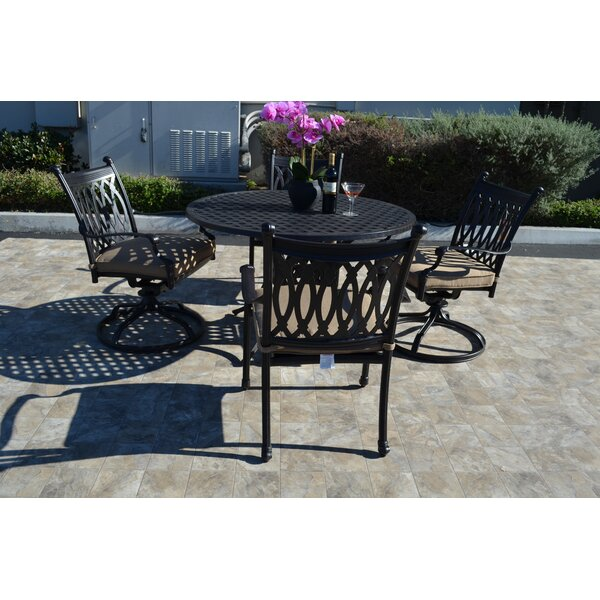 Baragrey 5 Piece Dining Set with Cushions by Fleur De Lis Living