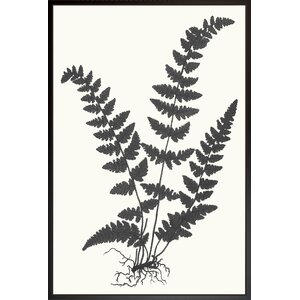 'Fern Silhouette' Framed Painting Print by Art Virtuoso