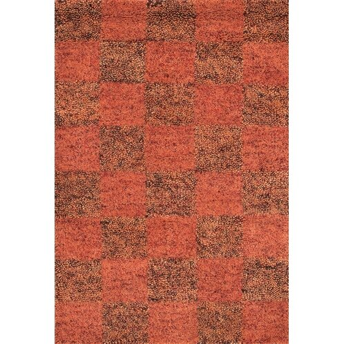 Strata Brown/Red Area Rug by Chandra Rugs