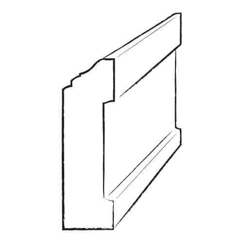3.5 x 4.8 x 94 Red Oak Wall Base by Moldings Online