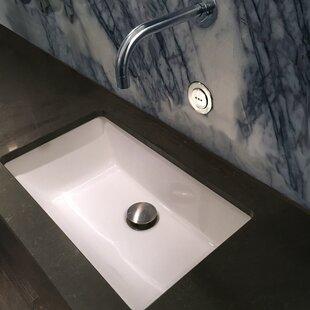 Great Price Great Point Ceramic Rectangular Undermount Bathroom Sink with Overflow ByNantucket Sinks