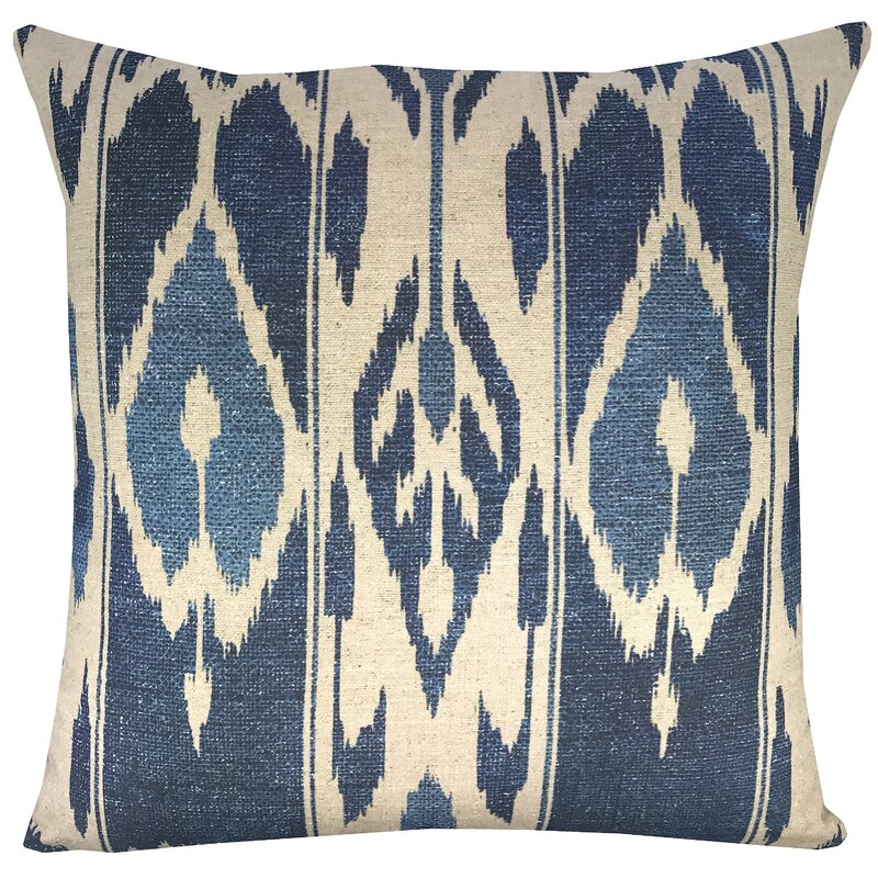 Ikat Shibori Throw Pillow