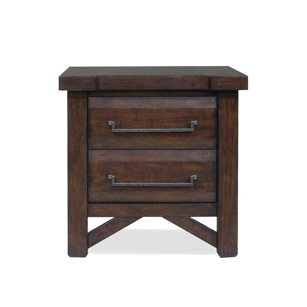 Bricelyn 2 Drawer Nightstand by Union Rustic