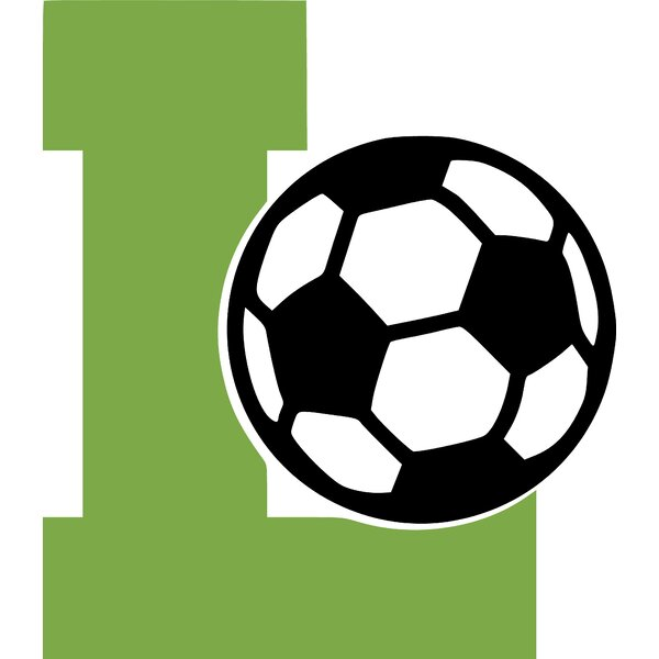 Letter L and Soccer Ball Wall Decal by Enchantingly Elegant