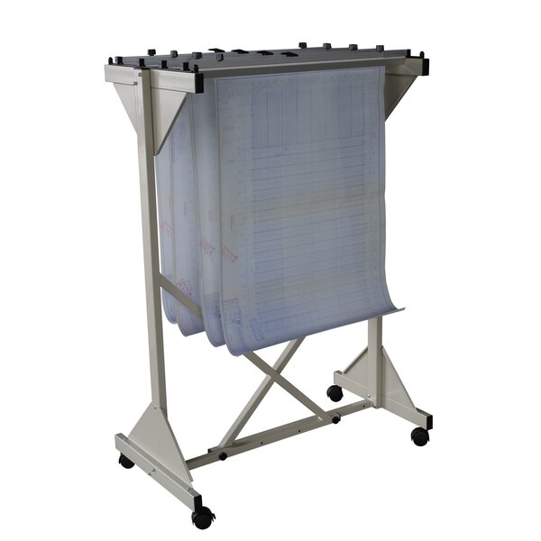 Mobile Drop Lift Hanging File Cart by Buddy Products