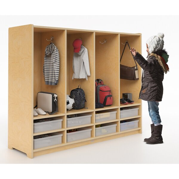 1 Tier 4 Wide Coat Locker by Whitney Brothers
