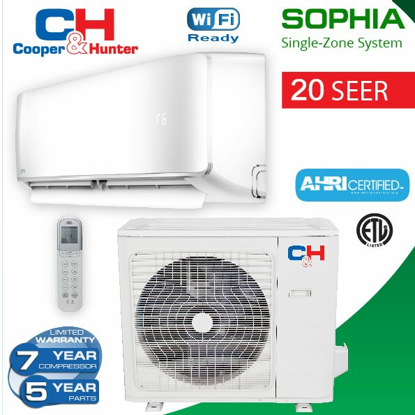 Sophia 18000 Energy Star Mini Split System with Remote by Cooper&Hunter