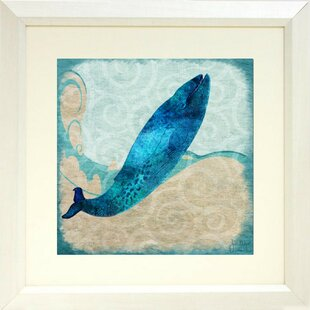 u0027Blue Whaleu0027 Framed Graphic Art Poster on Paper & Whale Wall Art For Nursery | Wayfair