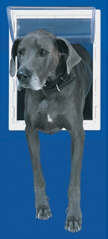 Super Large White Aluminum Pet Door by Perfect Pet by Ideal