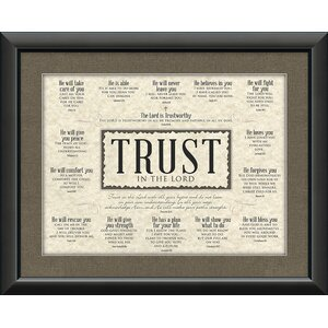 Divine Inspiration 'Trust' Framed Textual Art by Carpentree