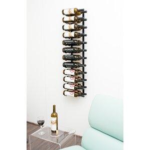 24 Bottle Metal Wall Mounted Wine Rack by VintageView