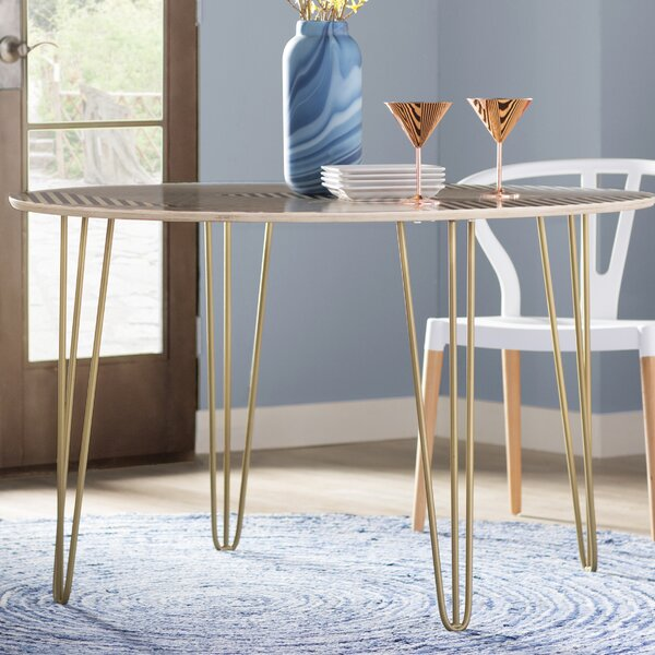 Corbin Solid Wood Dining Table by Wade Logan