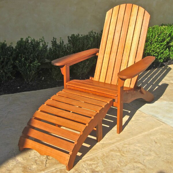 Sabbattus Adirondack Chair with Ottoman by Breakwater Bay