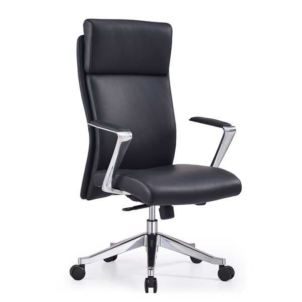 Entwistle High Back Genuine Leather Office Chair by Orren Ellis