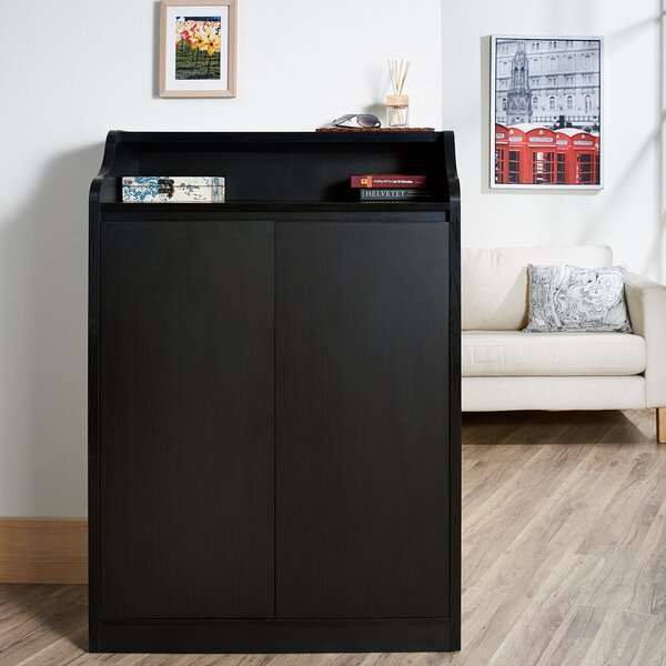 Gavinetta 15-Pair Shoe Storage Cabinet by Hokku De
