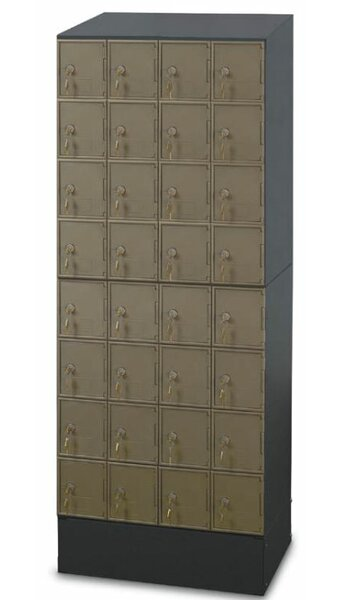 Guardian 8 Tier 4 Wide Employee Locker by Postal P