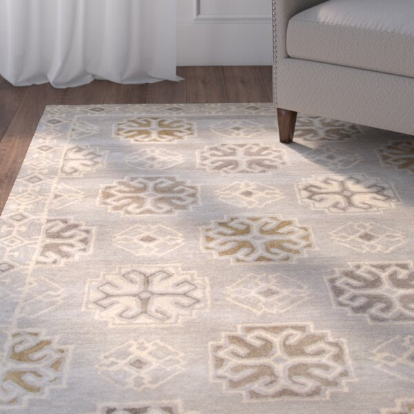 Windward Hand-Tufted Gray/Ivory Area Rug by Alcott Hill