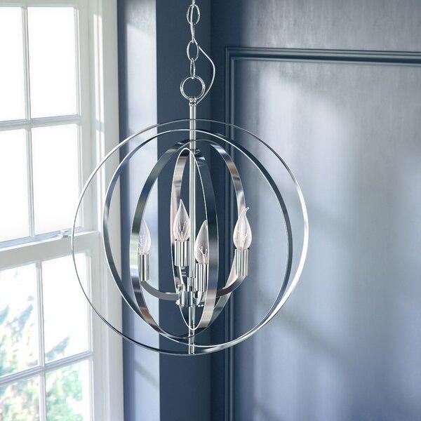 Hendry 4-Light Chandelier by Willa Arlo Interiors