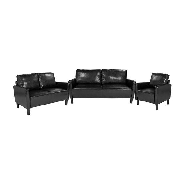 Laga Upholstered 3 Piece Living Room Set by Ebern Designs