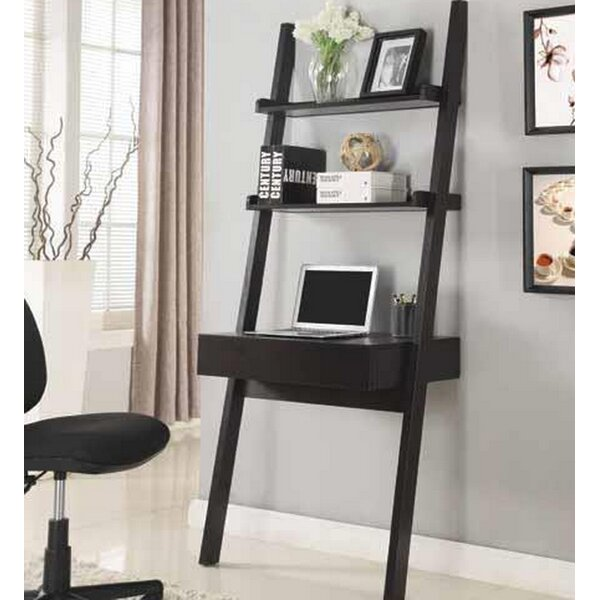 the best attitude d7ab0 0f94e Melodie Ladder Desk With Hutch By Ebern Designs
