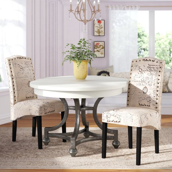 Wachapreague Script Upholstered Dining Chair (Set of 2) by Ophelia & Co.