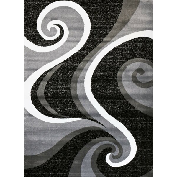 Chelston Abstract Gray Area Rug by Wade Logan