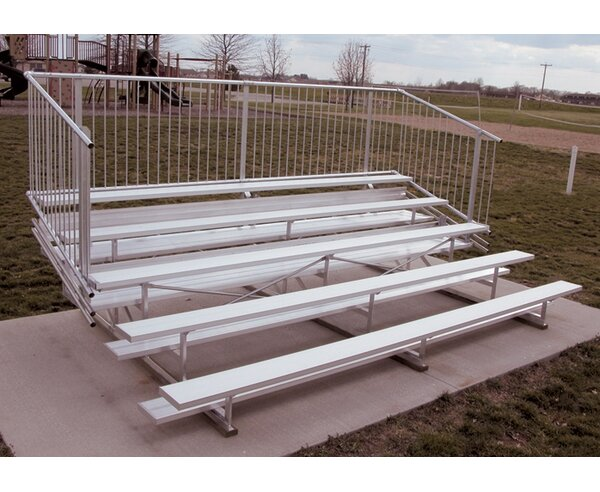Five-Row Aluminum Bleacher with Guardrails by Ultra Play