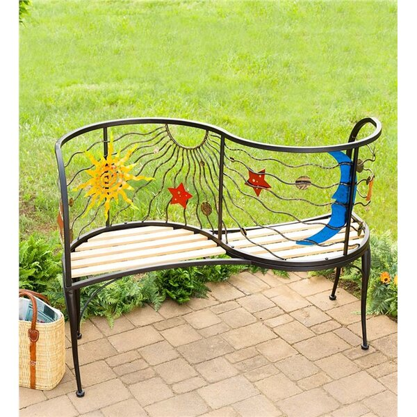 Sun and Moon Iron Tete-a-Tete Bench by Wind & Weather