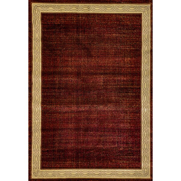 Mishawaka Red Area Rug by Charlton Home
