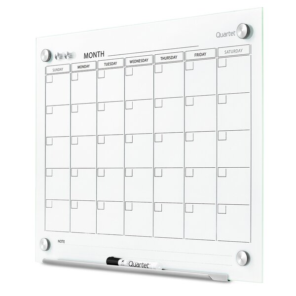 Infinity Magnetic Calendar Glass Board by Quartet