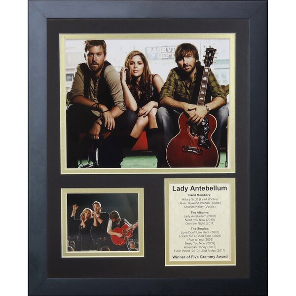 Lady Antebellum Framed Memorabilia by Legends Never Die
