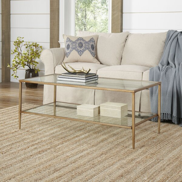 Safire Double Shelf Coffee Table By Wrought Studio