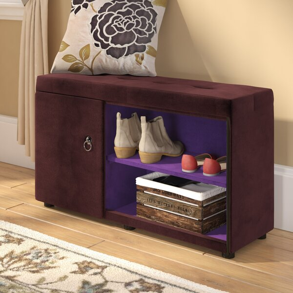 Argent Shoe Storage Bench by Andover Mills