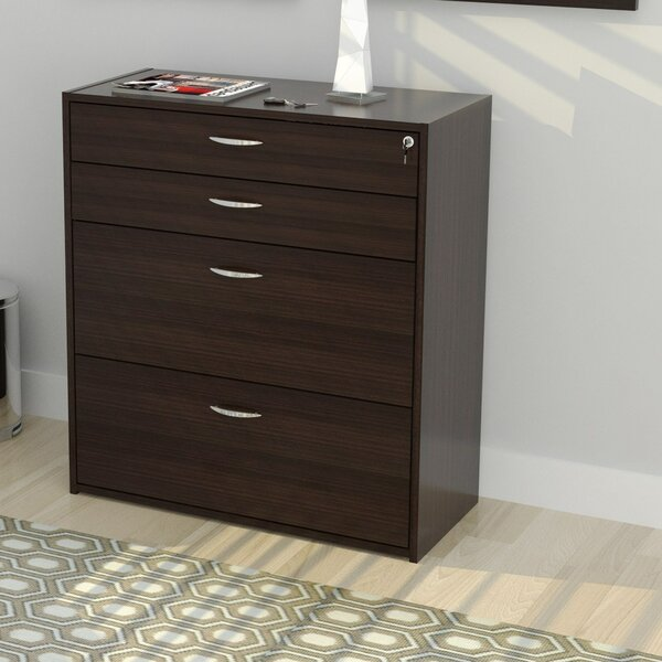 Bercut 4 Drawer Storage & Filing Cabinet by Latitu