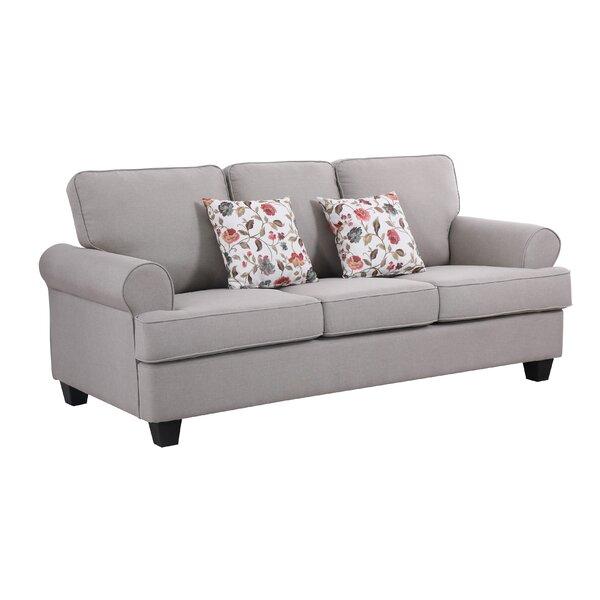 Buy Sale Ashkum Recessed Arms Sofa