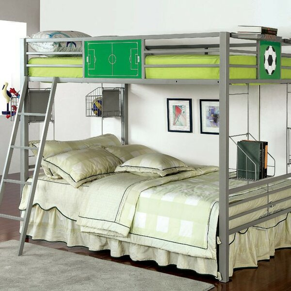 Rebello Full Over Full Bunk Bed with Baskets by Harriet Bee