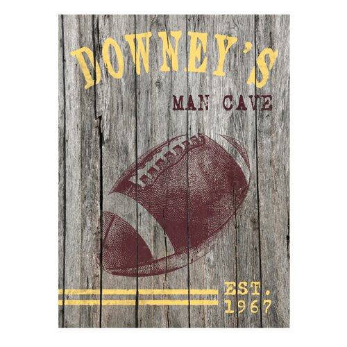 Personalized Gift Man Cave Vintage Advertisement Plaque by JDS Personalized Gifts