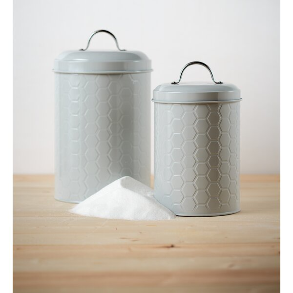 Hampton 2 Piece Kitchen Canister Set by Mint Pantry