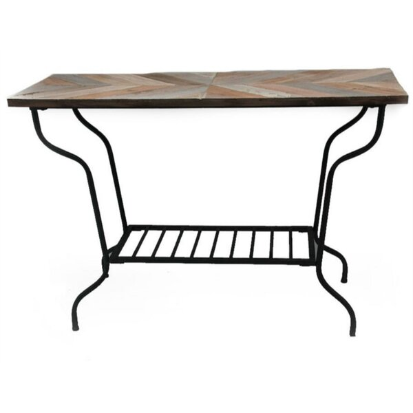 Pennell Metal And Wood Top Console Table By Union Rustic