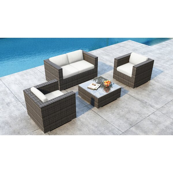Gilleland 4 Piece Sofa Seating Group with Sunbrella Cushion by Orren Ellis