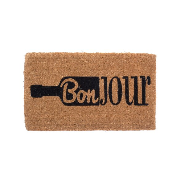 Bonjour Wine Doormat by Coco Mats N More