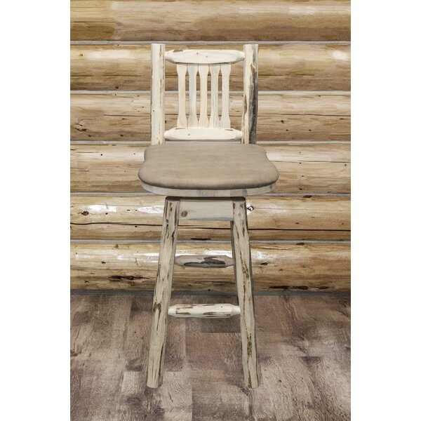 Tustin Swivel Counter & Bar Stool by Loon Peak Loon Peak