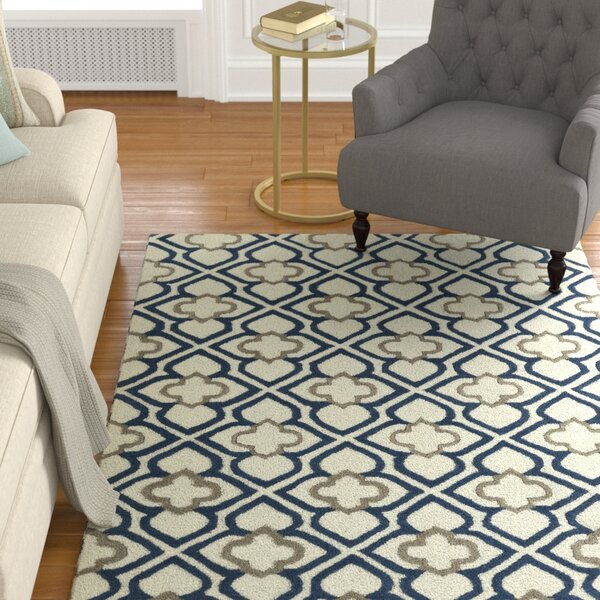 Cogar Handmade Navy Area Rug by Charlton Home