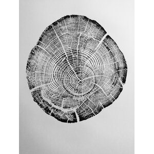 'Origional Tree Ring Woodblock Pring from Real Tree in Millcreek Canyon, UT' Graphic Art by LintonArt