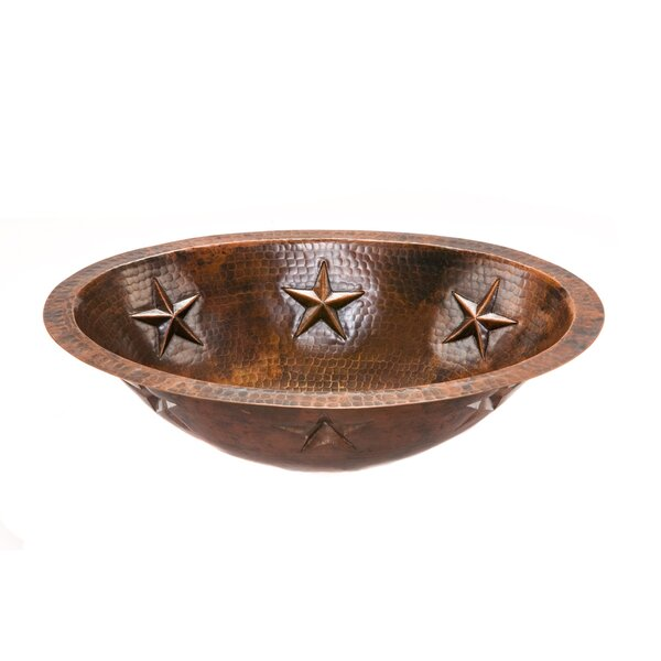 Star Metal Oval Undermount Bathroom Sink by Premier Copper Products