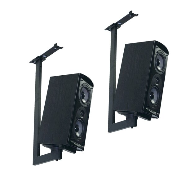 Side Clamping Bookshelf Speaker Ceiling Mount (Set of 2) by Pinpoint Mounts