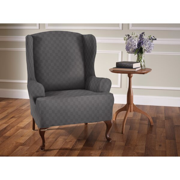 Sensation T-Cushion Wingback Slipcover by Red Barr