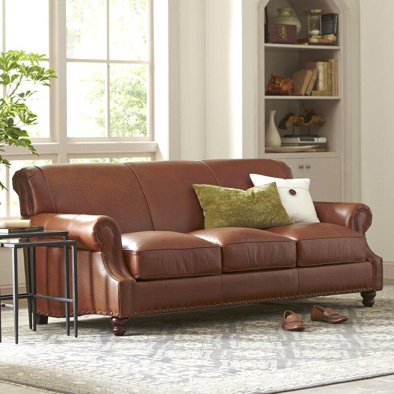 Birch Lane™ Landry Leather Sofa & Reviews | Wayfair