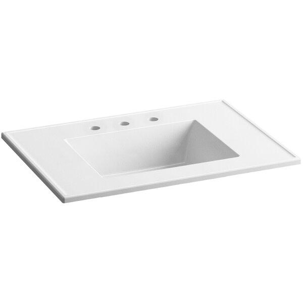 Ceramic Impressions Impressions Rectangular Drop-In Bathroom Sink with Overflow by Kohler
